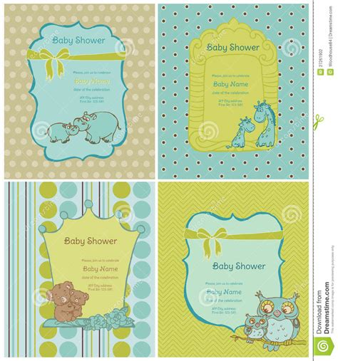 baby sts for card set of baby shower cards stock photography image 27261902