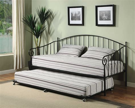 Daybed With Trundle And Mattress Included by Matt Black Metal Size Day Bed Daybed Frame With