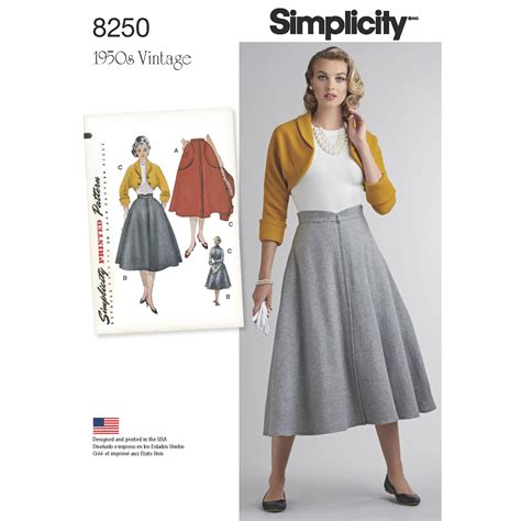 vintage pattern simplicity simplicity simplicity pattern 8250 misses vintage 1950 s
