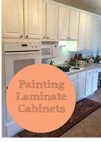 painting over laminate kitchen cabinets 1000 ideas about paint laminate cabinets on pinterest