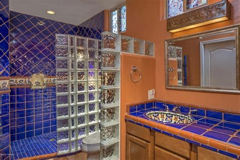Glass Block Bathroom Designs 44 Top Talavera Tile Design Ideas