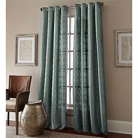 63 inch curtains bed bath beyond buy manhattan 63 inch grommet top window curtain panel in