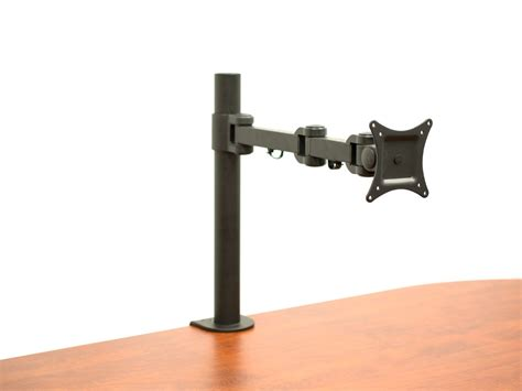 desk computer mount av 13 to 27 single monitor desk mount computer