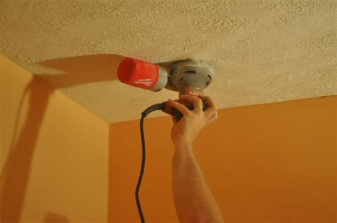 Sand Paint Ceiling by How To Remove A Stipple Ceiling By Sanding One Project