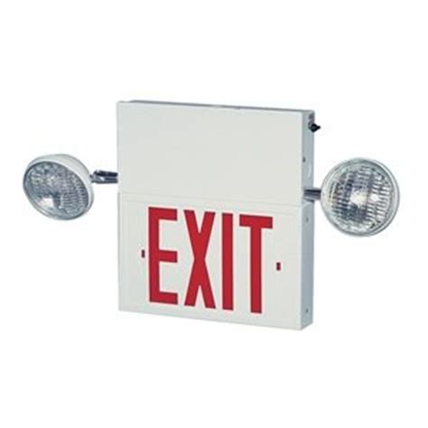 Exit Light Fixtures Exit Sign W Emergency Lights 8w Commercial Emergency Light Fixtures