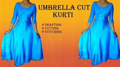 design dress cutting and stitching umbrella cut designer kurti drafting cutting and