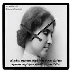 Why Was Helen Keller Blind And Deaf helen keller deaf blind quote wall clock zazzle