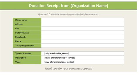 donation receipt templates donation form template out of darkness