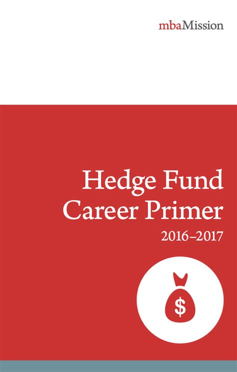 Hedge Fund Manager Mba by Mba Application Consulting Resources