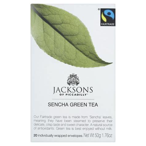 Sencha Green Tea Mints Original 9g Box jacksons of piccadilly sencha green tea 20 per pack from ocado