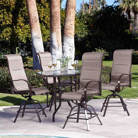High Top Patio Table Sets Of Furniture Metal Glass Bo High High Top Outdoor Patio Furniture
