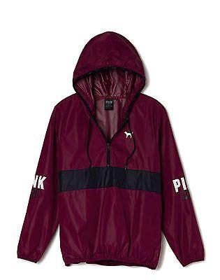 Parka Hoodie Maroon Termurah victorias secret pink anorak pullover hoodie windbreaker jacket maroon xs sm new grey my