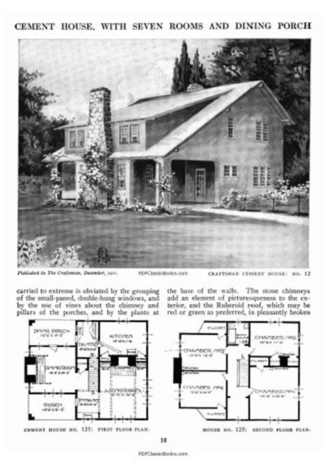 Stickley House Plans Stickley S More Craftsman Homes Floor Plans For 78 Mission Style Dwellings Home Design Home