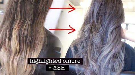 how to do ash ombre highlight on short hair how to get ash ombre highlights youtube