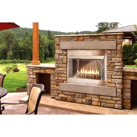 Outdoor Lp Gas Fireplace empire olp36fp72s 36 inch loft outdoor vent free propane gas fireplace shopperschoice