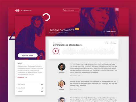 design inspiration homepage 50 user profile page design inspiration muzli design