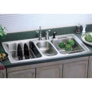 Elkay Lgr43220 No Faucet Holes Harmony Lustertone 43 X 22 Kitchen Sink