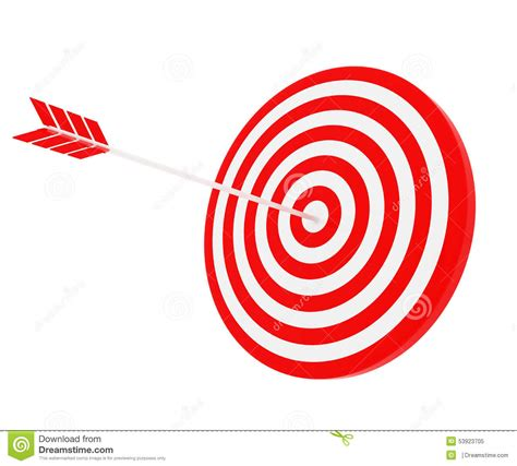 the target the arrow hit the target stock photo image 53923705