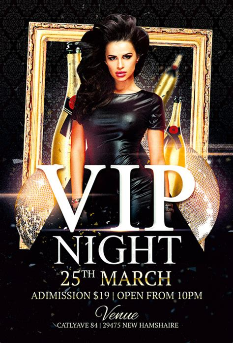 nightclub flyers templates vip club flyer template awesomeflyer