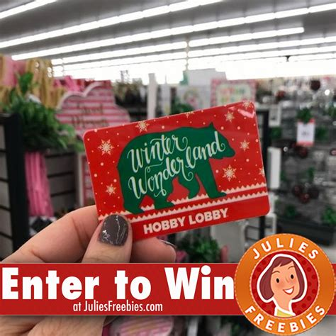 Where Can You Buy Hobby Lobby Gift Cards - win a 200 00 hobby lobby gift card julie s freebies