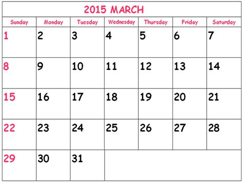 printable december 2015 calendar uk download march 2015 calendar canada printable cute march