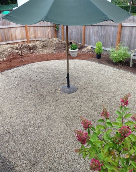 gravel for backyard progress on a fall backyard project the pea gravel patio the inspired room