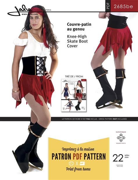 jalie pattern youtube jalie 2685 knee high skate boot cover pdf pattern pdf
