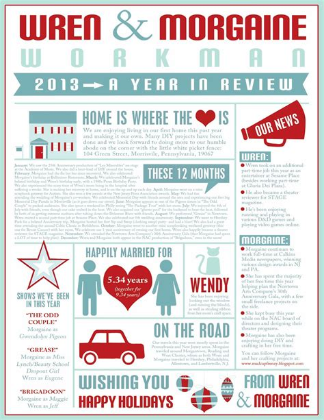 Madcap Frenzy Graphic Design Diy And Everything In Between 2013 Year In Review Infographic Letter Year In Review Letter Template Free