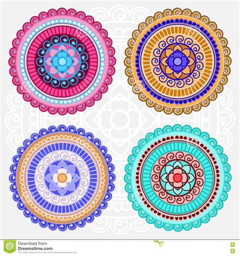 imagenes de mandalas coloreadas mandalas coloreadas del vector ilustraci 243 n del vector