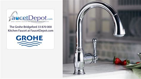 grohe bridgeford kitchen faucet wow
