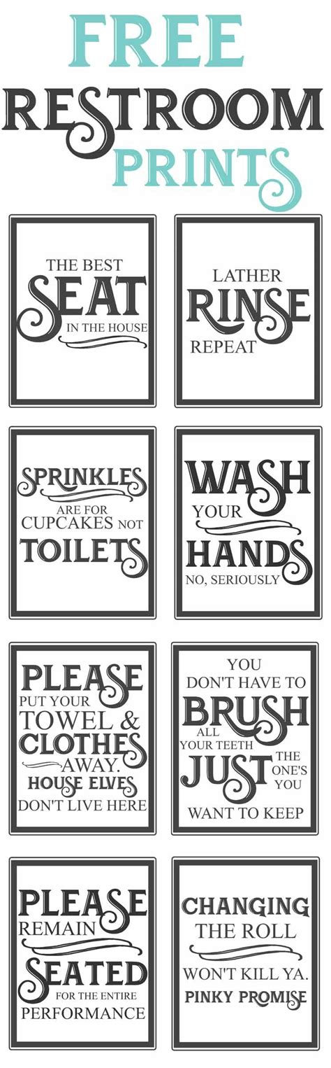 printable bathroom quotes free vintage bathroom printables farmhouse style funny