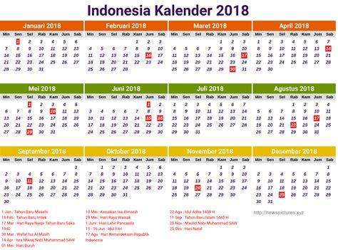 Kalender 2018 Indonesia Png Indonesia Kalender 2018 2 Kelender 2018