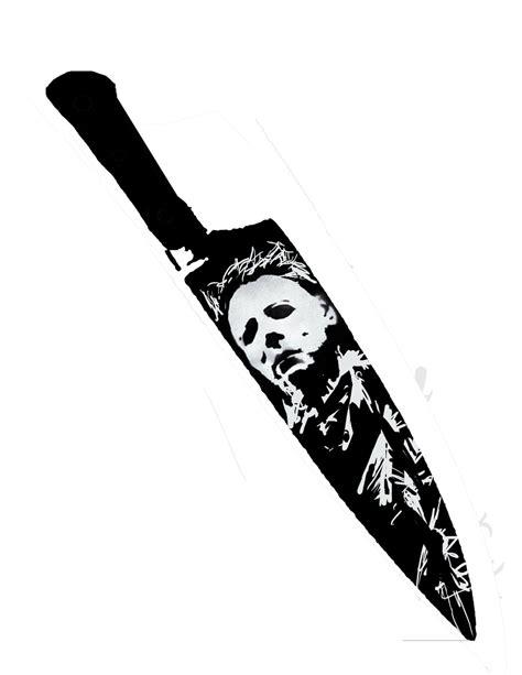 Michael Myers Halloween Pumpkin Stencil - michael myers knife stencil by coffeeandshades on deviantart