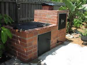a outdoor brick smoker construction and diy projects