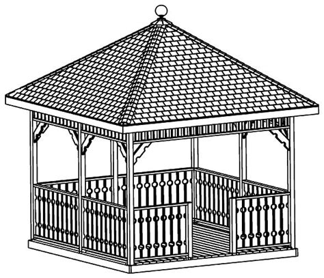 Hexagon House Floor Plans by Custom Gazebo Plans 12ft Square Hip Roof With Step By