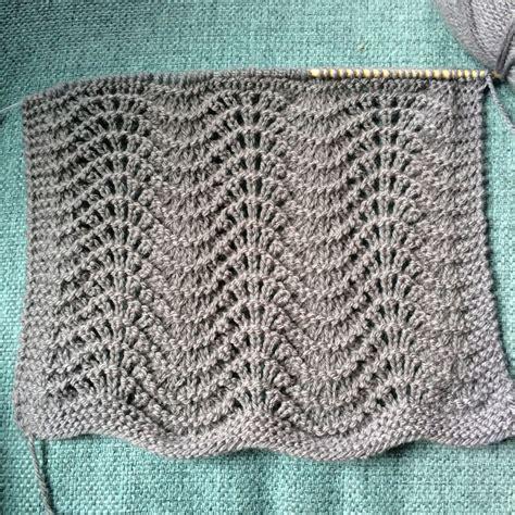 feather and fan knit pattern single skein scarflette free pattern melody s makings