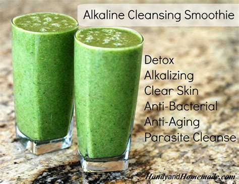 Lemon Cucumber Detox Smoothie by Alkaline Cleansing Green Smoothie Recipe