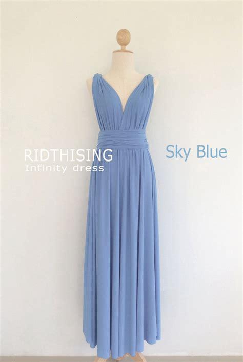 Floor Length Wrap Dress by Sky Blue Infinity Dress Floor Length Bridesmaid Dress
