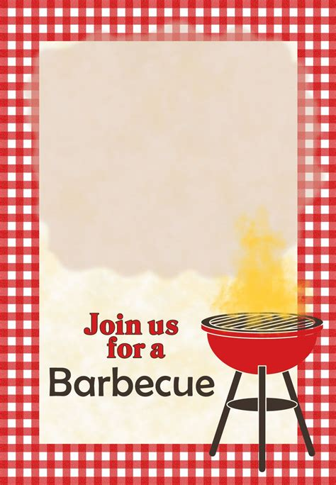 Bbq Invitation Template a barbecue free printable invitation template