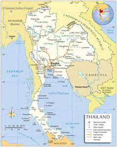 Thailand Map World by Travel Guide To Thailand