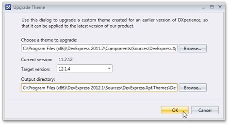devexpress theme editor upgrade t206041 how to upgrade a custom theme up to the latest