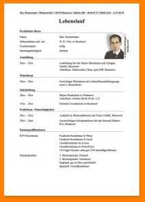Lebenslauf Vorlage Englisch Schüler 5 Lebenslauf Schreiben Sch 252 Ler Resignation Format