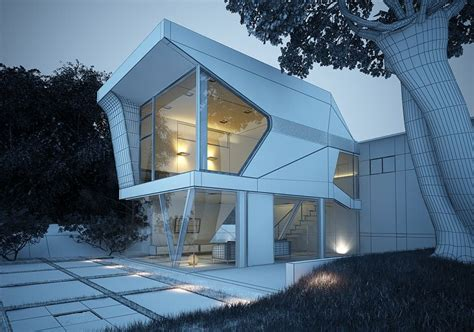 3d model ad house exterior cgtrader modern house exterior design 3d model cgtrader com