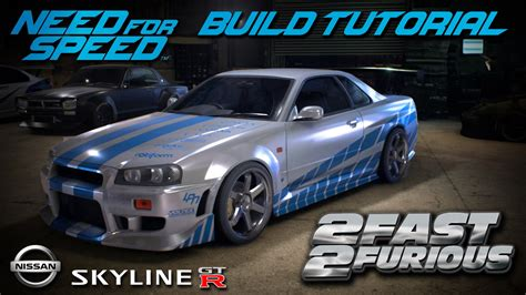 nissan skyline r34 2 fast 2 furious need for speed 2015 2 fast 2 furious brian s nissan