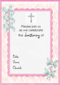 baptism invitation templates best template collection