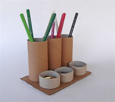 How To Make A Pencil Holder With Paper - craftsboom toilet paper roll pencil holder organizer