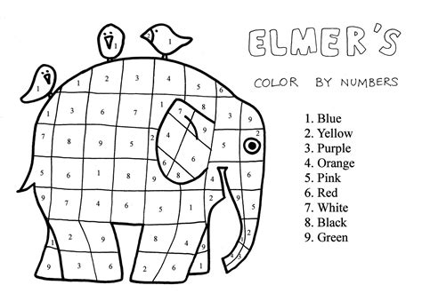 Elmer The Patchwork Elephant Coloring Page Lines Across Elmer Colouring Pages