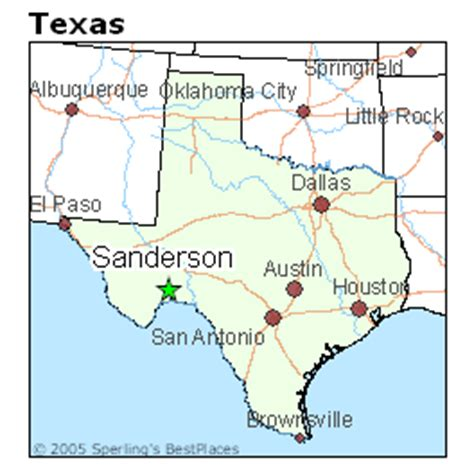 sanderson texas map best places to live in sanderson texas