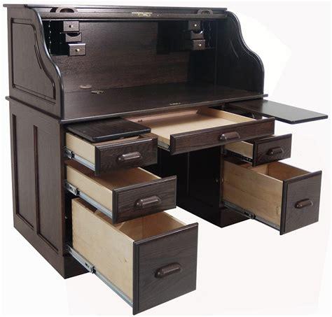 Solid Oak Roll Top Computer Desk 54 Quot W Deluxe Solid Oak Laptop Roll Top Desk