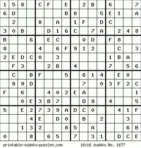 16x16 sudoku printable 17 best images about difficult puzzles on pinterest maze